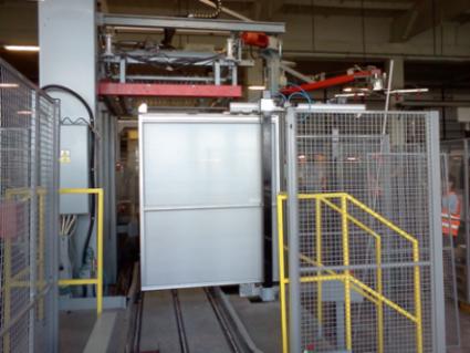 Pneumaticky ovládané teleskopické vrata - Starobrno